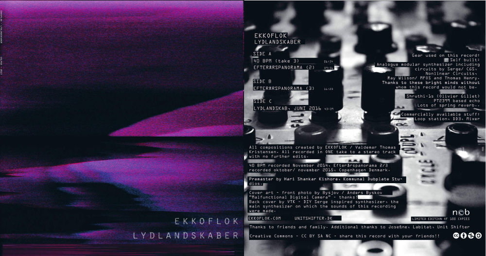 The cover art of Ekkoflok - LYDLANDSKABER