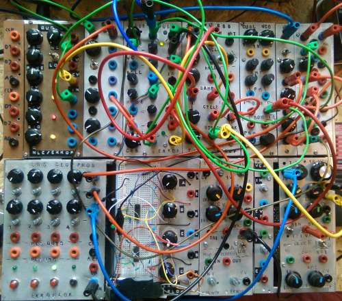 Picture of my self built DIY modular synthesizer